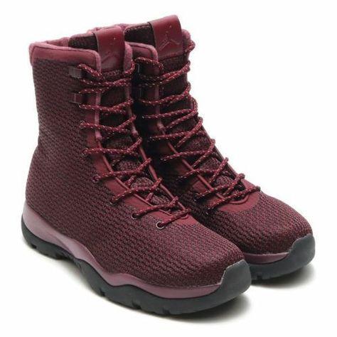 Nike Jordan Future Boot Sz 11 Maroon Burgundy Red Black