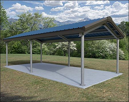 All Steel Gable I Beam Pavilion Steel Carports Outdoor