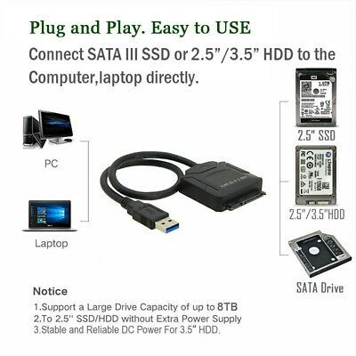 Ebay Ad Url Usb 3 0 To 2 5 3 5 Sata Cable Hdd Ssd Hard Drive Adapter Cable Windows 10 Os In 2020 Hdd Hard Drive Hard Drives