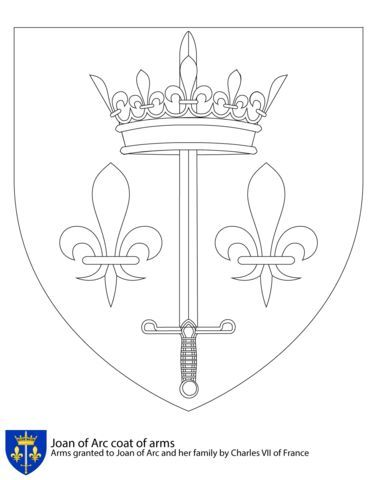 Coat Of Arms Of Joan Of Arc Coloring Page From France Category