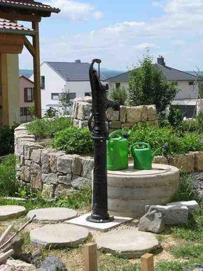 Zisterne Anschluss Einer Schwengelpumpe Gartenbau Selber Gemacht Brunnen Garten Zisterne Wasserspiel Garten