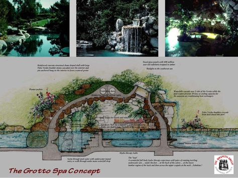 Playboy Mansion Hefner S World Renowned Grotto Grotto Design Mansions Grotto Pool