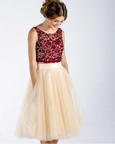 f4ed605402f Princess Two Piece Burgundy Short Homecoming Dress