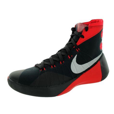 93ae88164fb5 Nike Men s Hyperdunk 2015  Mlc Silver University Red Basketball Shoe ...
