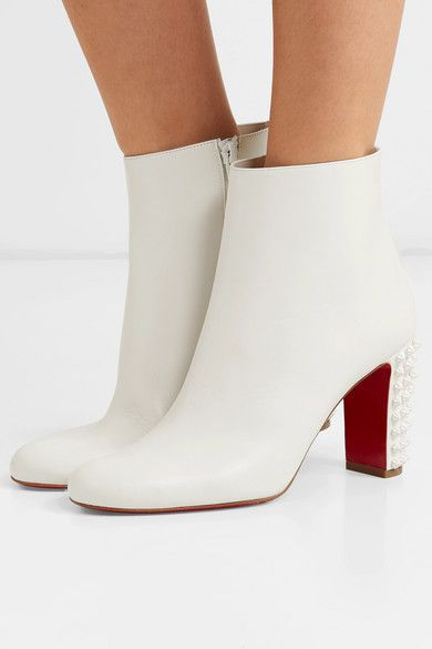 99caf8fe1ef Christian Louboutin - Suzi Folk 85 spiked leather ankle boots in ...