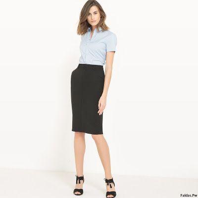 Faldas Negras De Moda Faldas Moda Y Moda Estilo