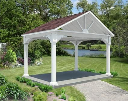 10 X 14 Vinyl Long Gable Ramada Rectangle Gazebo Rectangular Gazebo Gazebo