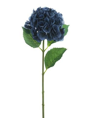 Silk Hydrangea Flower In Navy Blue 31 Tall Silk Hydrangeas Hydrangea Flower Artificial Flowers And Plants
