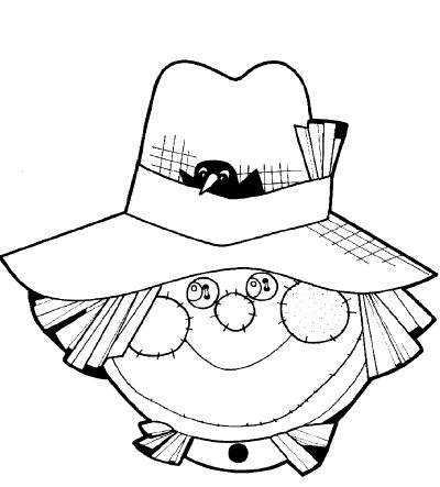 Scarecrow Head Coloring Page Wedding Coloring Pages The