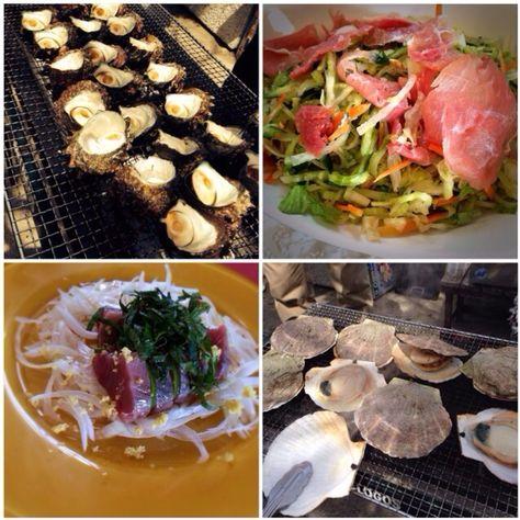 友達&家族でパーティ料理に参加中 - 逗子で海鮮BBQ                                 生ハムのコールスロー