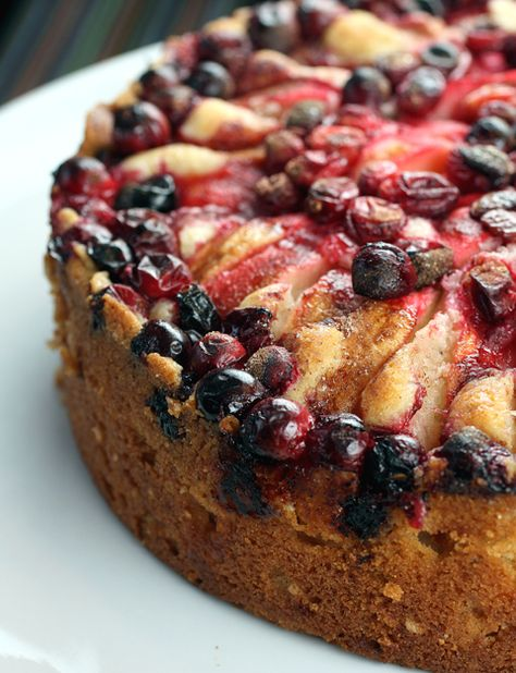An apple-cranberry cake