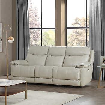 Messina Leather Power Reclining Sofa With Power Headrests In 2020 Power Reclining Sofa Reclining Sofa Power Recliners