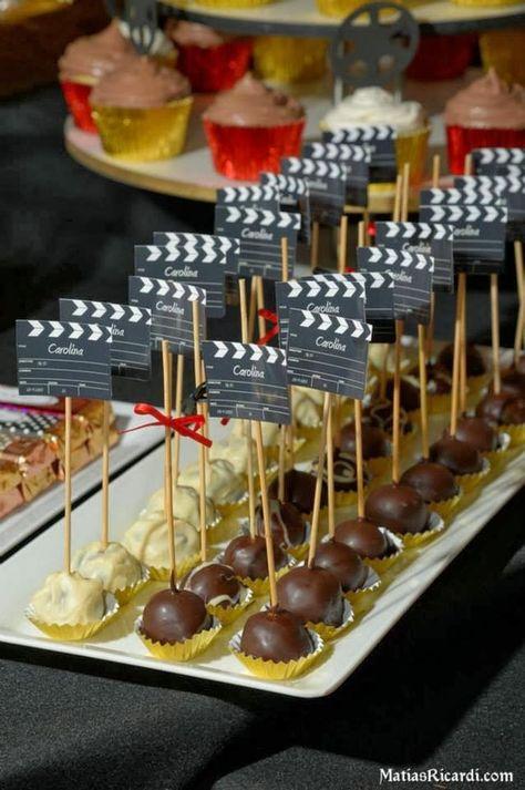 decoracion hollywood centro de mesa - Buscar con Google                                                                                                                                                                                 Más