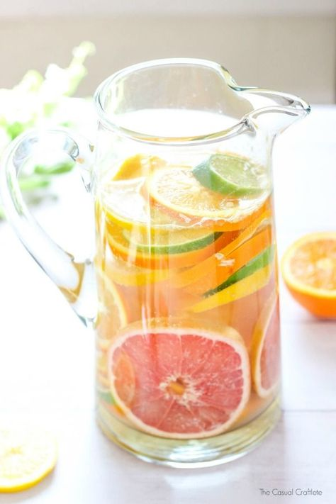 Pink Grapefruit and Citrus Drink ~ Mary Wald's Place - Sparkling Citrus Coconut Water - a beautiful and refreshing drink recipe made with citrus fruit and sparkling pineapple coconut flavored water. Coconut Water Recipes, Infused Water Recipes, Coconut Water Drinks, Coconut Water Smoothie, Citrus Recipes, Best Nutrition Food, Health And Nutrition, Nutrition Products, Nutrition Guide