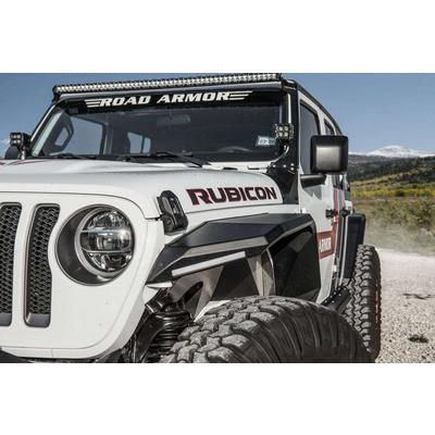 Road Armor Stealth Front Fender Flare With Switchback Led Black 518aff0b In 2020 With Images Fender Flares Jeep Wrangler Fenders Wrangler Fender Flares