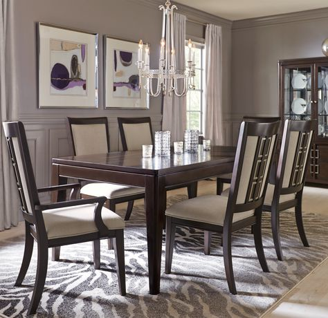 Make your next meal deliciously modern with the contemporary styling of the Santa Clarita dining collection.