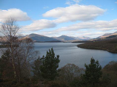 Loch Lomond in Scotland is beautiful.