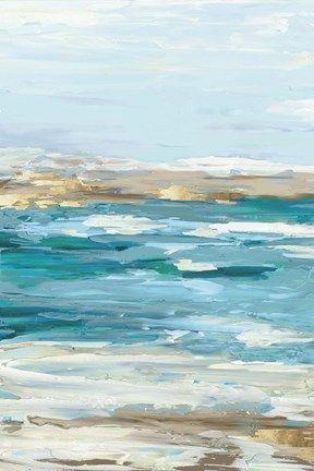 Sea Side I By Eva Watts Seascape Paintings Landscape Art Surf Art