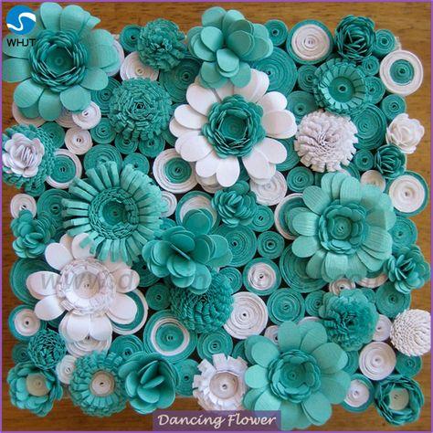 Source 2017 wedding decoration wall Decorative Paper Flowers on m.alibaba.com