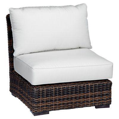 Outdoor Sunset West Montecito Wicker Patio Side Club Chair Cork