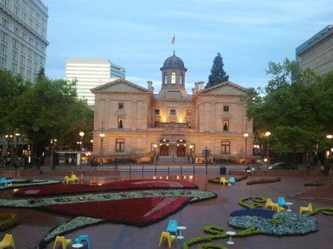 The Pioneer Courthouse: Pioneer Courthouse, in Portland, Oregon, has been home since 1875 to the United States Courts in the State of Oregon.  A National Historic Landmark, the courthouse is currently the Oregon home for the United States Court of Appeals for the Ninth Circuit.