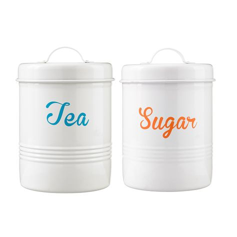 George Home Cream Bright Canisters Kitchen Storage Asda Direct