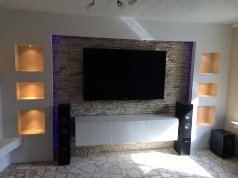 Wohnzimmer Ideen Tv Wand Stein. tapete steinoptik - vliestapete ...