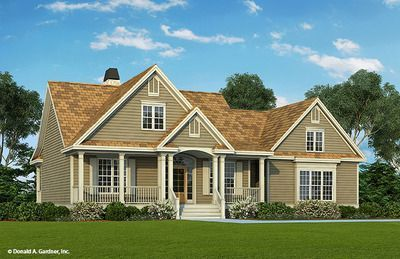 Front Color House Plan Country Style House Plans New House Plans Traditional House Plans