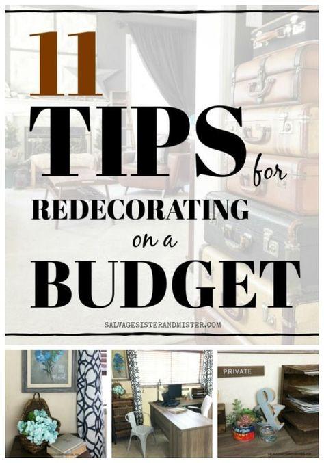 11 Tips for redecorating on a budget #homedecor #budgetdecor #frugalliving