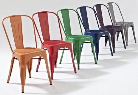 Gun Metal Industrial Vintage Tolix Style Cafe Chairs Other Colours