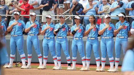 Softball Topped by No. 6 Texas, - Ole Miss Athletics Softball Photos, Softball Things, Softball Stuff, Girls Softball, Softball Uniforms, Ole Miss Baseball, Softball Photography, Wild Pitch, Softball