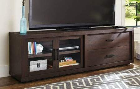 Tv Stand For 70 Inch Tv Espresso Wood With Adjustable Shelf