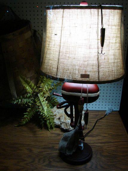 Retro Vintage Boat Motor Table Lamp W Shade Moose R Us Com Log Cabin Decor Lamp Table Lamp Log Cabin Decor