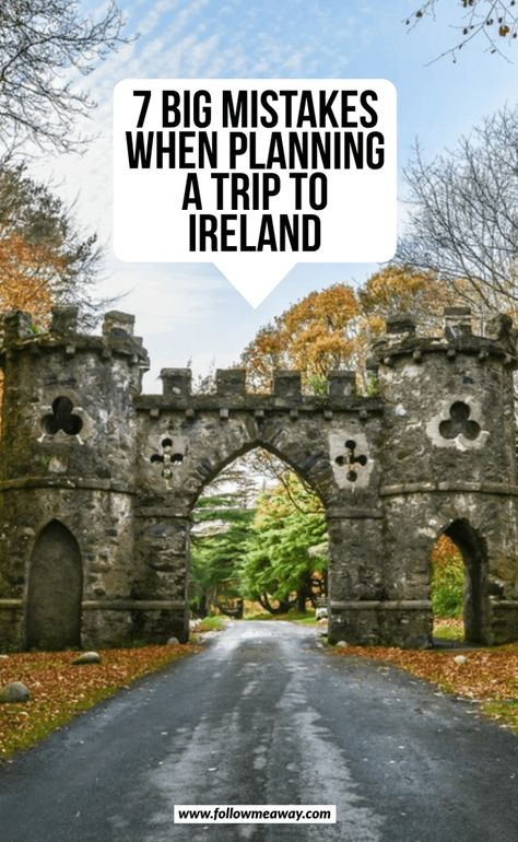 If you are planning a trip to Ireland, you are going to want to avoid these huge mistakes! Here's what you should NOT do when planning your trip to Ireland! 7 Mistakes To Avoid When Traveling To Ireland Ireland Travel Guide, Dublin Travel, Paris Travel, Trips To Dublin, Ireland Hiking, Ireland Destinations, Backpacking Ireland, Cool Places To Visit, Places To Travel