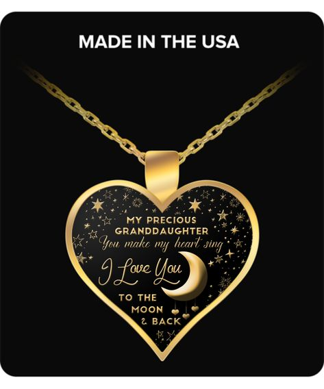 Best Gift I LOVE YOU TO THE MOON AND BACK Necklace Charm Pendant DS