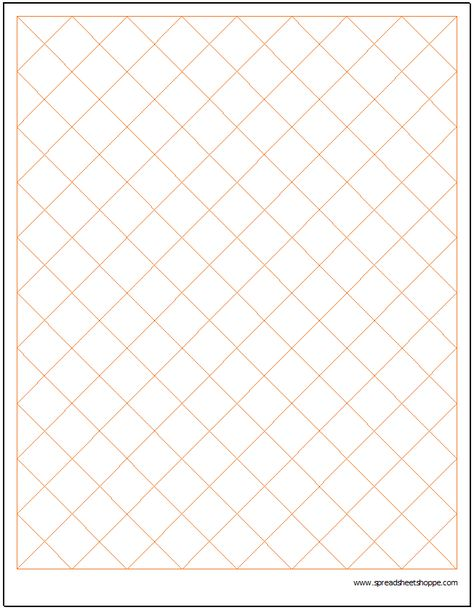Diamond Graph Paper Template Charts \ Graphs Pinterest Graph - printable grid paper template