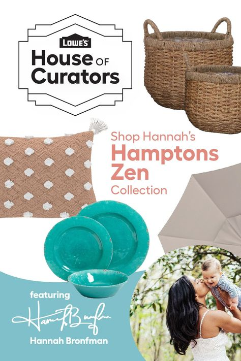 Transport yourself to a laid-back, beachy setting without leaving home when you shop Hannah Bronfman's Hamptons Zen curation for Lowe's #HouseofCurators.