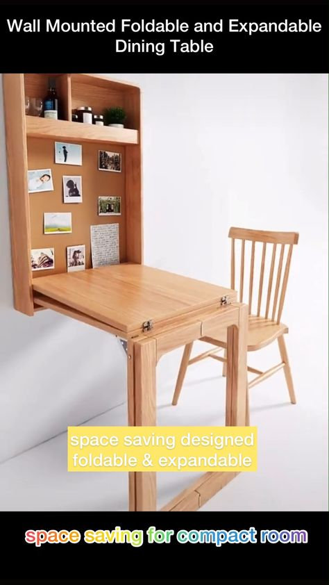 Wall Mounted Folding Desk and Dining Table