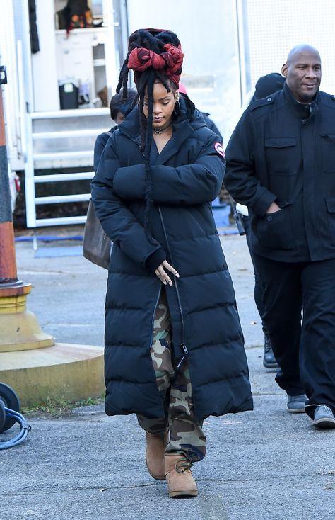 Rihanna's Wintertime Puffer Coat Game Will Blow You Away
