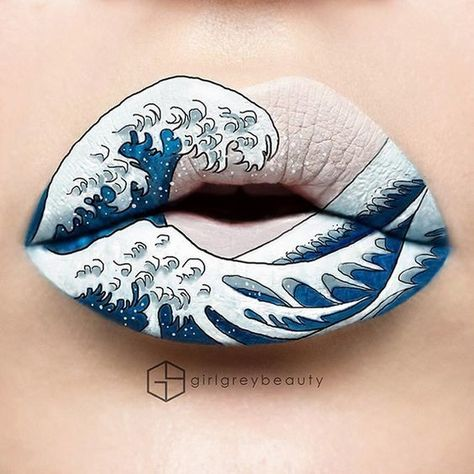 The Great Wave - These Works of Lip Art Slay the Makeup Game - Photos