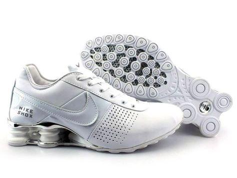 premium selection 873b5 e16a0 ... Chaussures Nike Shox R4 Blanc Argent nike12175 - €50.96 Nike Chaussure  Pas Cher,Nike ...