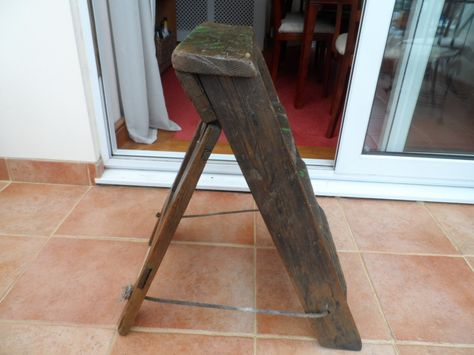 Admirable All Original Vintage 1950S1960S Flat Folding Small A Frame Evergreenethics Interior Chair Design Evergreenethicsorg
