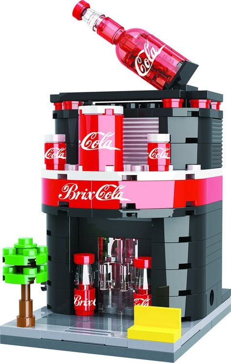 The Neighborhood Soda Shop is a must have for your Brick City! :-) Material: ABS PlasticRecommended Ages: 6 and up Brick Loot building bricks work with LEGO, MEGA Bloks, Kre-O and other major brick brands. Lego Design, Lego City, Legos, Zona Colonial, Big Lego, Lego Furniture, Lego Challenge, Amazing Lego Creations, Lego Pictures