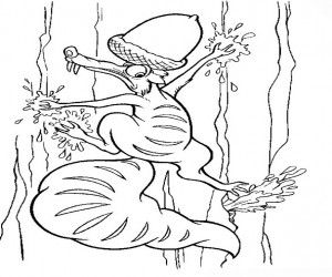 Ausmalbilder Ice Age Scrat Ausmalbild Ice Age Disney
