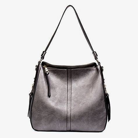 11e79aacdb23 Clearance Sale CALLAGHAN Designer PU leather Handbag Purse Ladies Hobo  Shoulder Tote Bag for Womens Top Handle Bag Large Pewter -- Check this  awesome ...