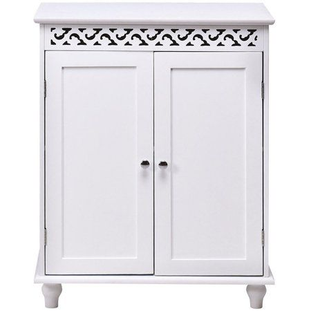 Brand New White 2 Door Wall Mounted Bathroom Cabinet With Glass Doors Amazon Co Uk Ki Wall Mounted Bathroom Cabinets Glass Cabinet Doors Bathroom Wall Cabinets