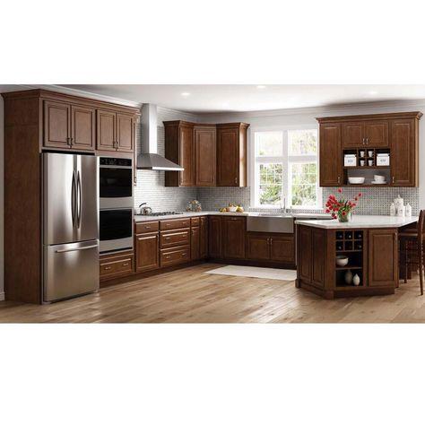 Cognac Shaker Kitchen Cabinets