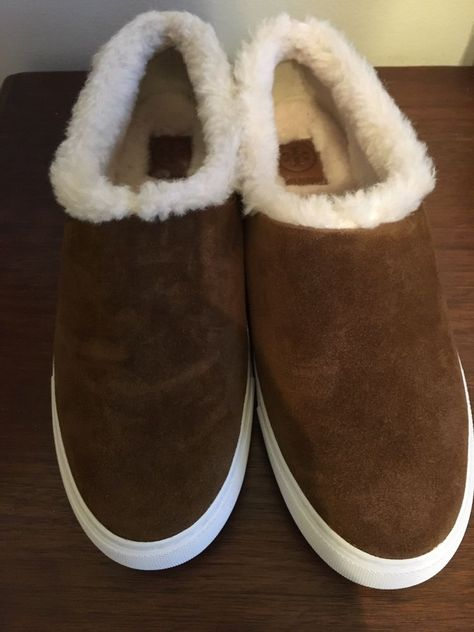 2bd2570ac0aa14 NEW TORY BURCH MILLER SUEDE SHEARLING SLIP-ON SNEAKERS SZ 10 MSRP  268   fashion  clothing  shoes  accessories  womensshoes  comfortshoes (ebay  link)