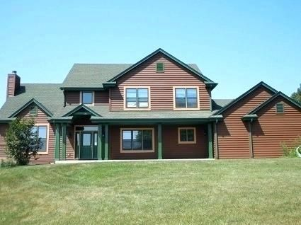 Brown House With Green Trim Brown House Exterior Green Roof House Brick House Trim