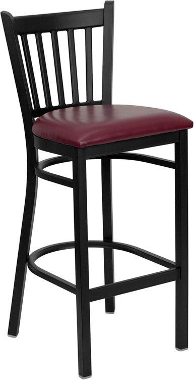 Magnificent Vertical Back Metal Frame Bar Stool In 2019 Metal Bar Beatyapartments Chair Design Images Beatyapartmentscom